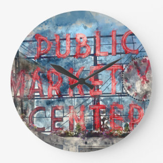Public Market Center in Seattle Washington Wallclocks