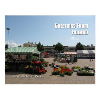 Public Market in Hamina, Finland Postcard