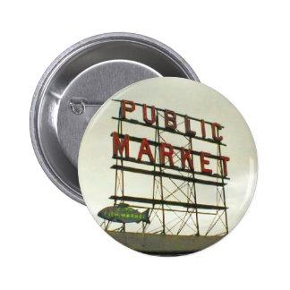 Public Market in Seattle WA Button