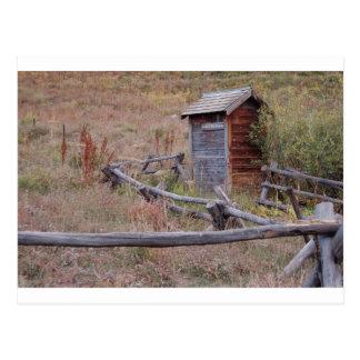 Public Outhouse Postcard