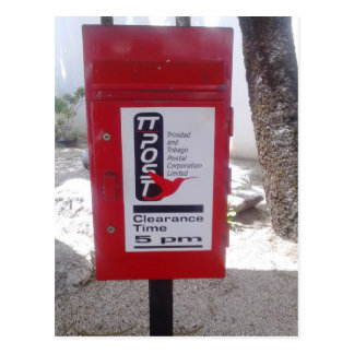 Public Postbox (Mailbox) in Trinidad and Tobago Postcard