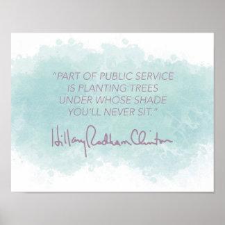 Public Service - Hillary Clinton Poster