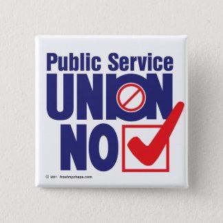 Public Service Union NO! - Button
