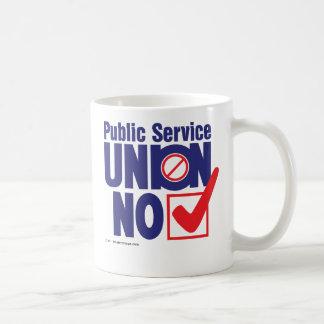 Public Service Union NO Basic White Mug