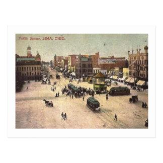 Public Square, Lima, Ohio Vintage Postcard