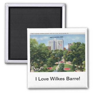 Public Square, Wilkes-Barre PA Vintage Magnet
