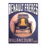 Publicité française d'automobile de Renault Freres Cartes Postales