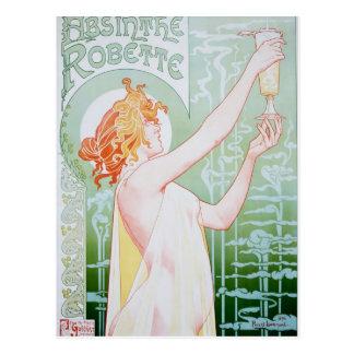 Publicité vintage d'absinthe carte postale