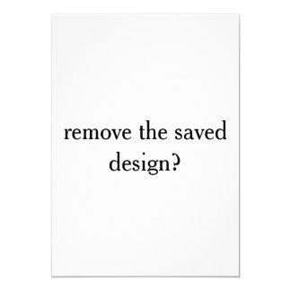 publish testing a saved design card