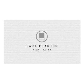 Publisher Elegant Book Icon Publishing Business Card