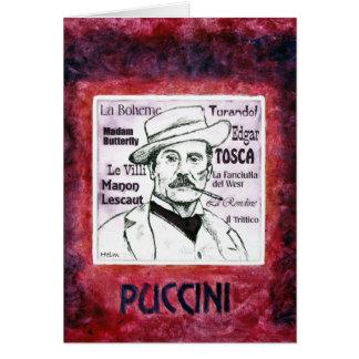 PUCCINI greetings card
