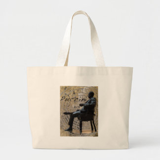 Puccini_Statue_Lucca1 Large Tote Bag