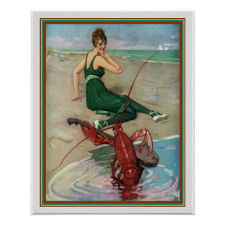 "Puck 1914 ""Lobster Serenade"" 16 x 20 Poster"