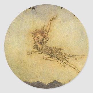 Puck, A Sprite by Arthur Rackham Sticker Fairy Imp