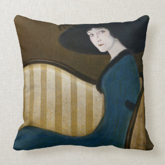 Puck Magazine Cover 1911 Throw Pillow