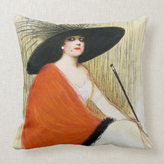 Puck Magazine Cover 1912 Throw Pillow