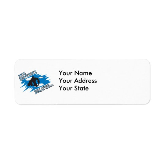 puck stops here ice hockey design return address label