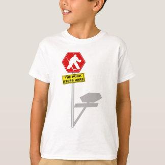 Puck Stops Here, Kids Hockey Goalie T-Shirt