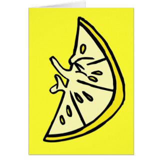 Pucker Lemon Card