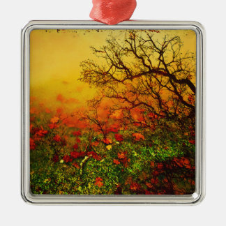 Puddle Paradise Silver-Colored Square Ornament