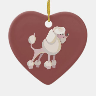 Pudel Hund poodle dog Ceramic Ornament