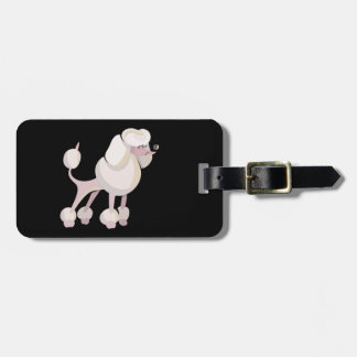 Pudel Hund poodle dog Luggage Tag