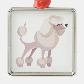 Pudel Hund poodle dog Metal Ornament
