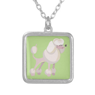 Pudel Hund poodle dog Silver Plated Necklace