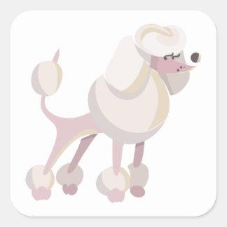 Pudel Hund poodle dog Square Sticker