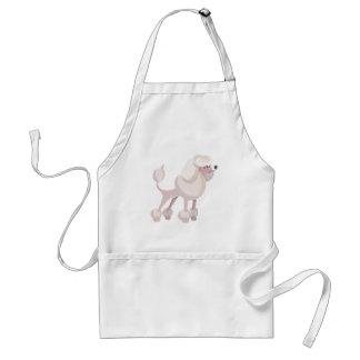 Pudel Hund poodle dog Standard Apron
