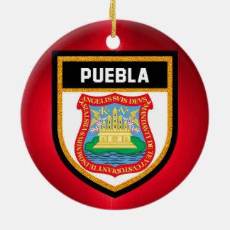 Puebla Flag Ceramic Ornament