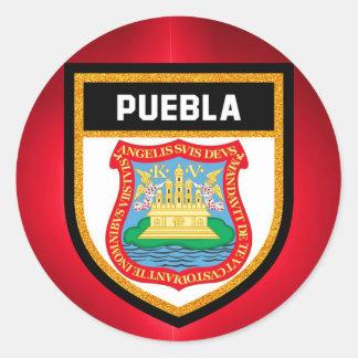 Puebla Flag Classic Round Sticker
