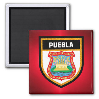 Puebla Flag Magnet