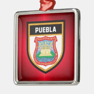 Puebla Flag Metal Ornament