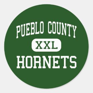 Pueblo County - Hornets - High - Pueblo Colorado Classic Round Sticker