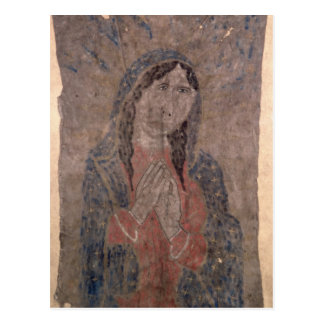 Pueblo Indian hide Painting of a Madonna, 1675 Postcard