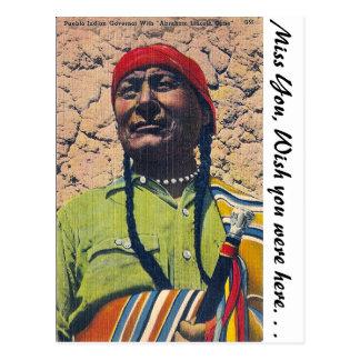 Pueblo Indian Postcard