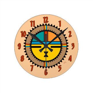 Pueblo Katsina (Kachina) Sun Face Clock