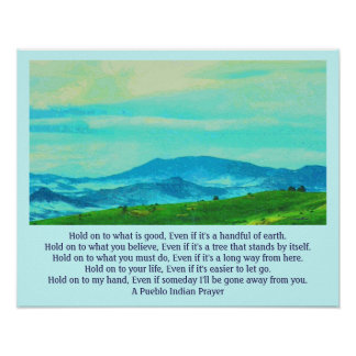 Pueblo prayer poster