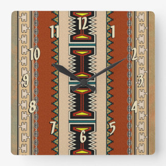 Pueblo Sand Square Wall Clock