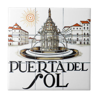 Puerta del Sol, Madrid Street Sign Tile