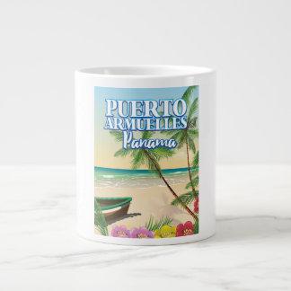 Puerto Armuelles Panama Beach travel poster Large Coffee Mug