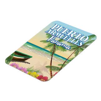 Puerto Armuelles Panama Beach travel poster Rectangular Photo Magnet