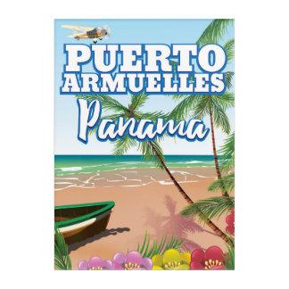 Puerto Armuelles Panama vacation travel poster Acrylic Wall Art
