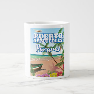 Puerto Armuelles Panama vacation travel poster Large Coffee Mug