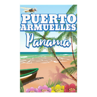 Puerto Armuelles Panama vacation travel poster Stationery