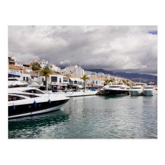 Puerto Banus Marina in Spain Postcard