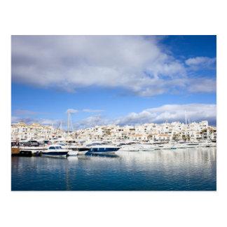Puerto Banus Skyline on Costa del Sol in Spain Postcard