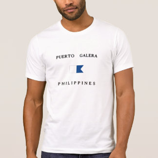 Puerto Galera Philippines Alpha Dive Flag Shirt