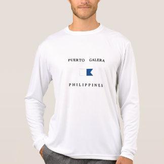 Puerto Galera Philippines Alpha Dive Flag Tee Shirt